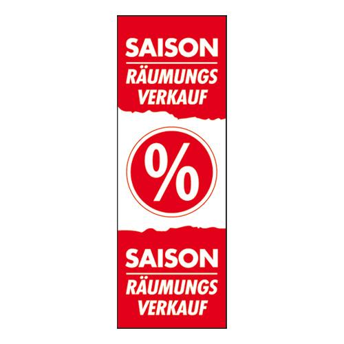 Plakat 'Saisonräumungsverkauf'