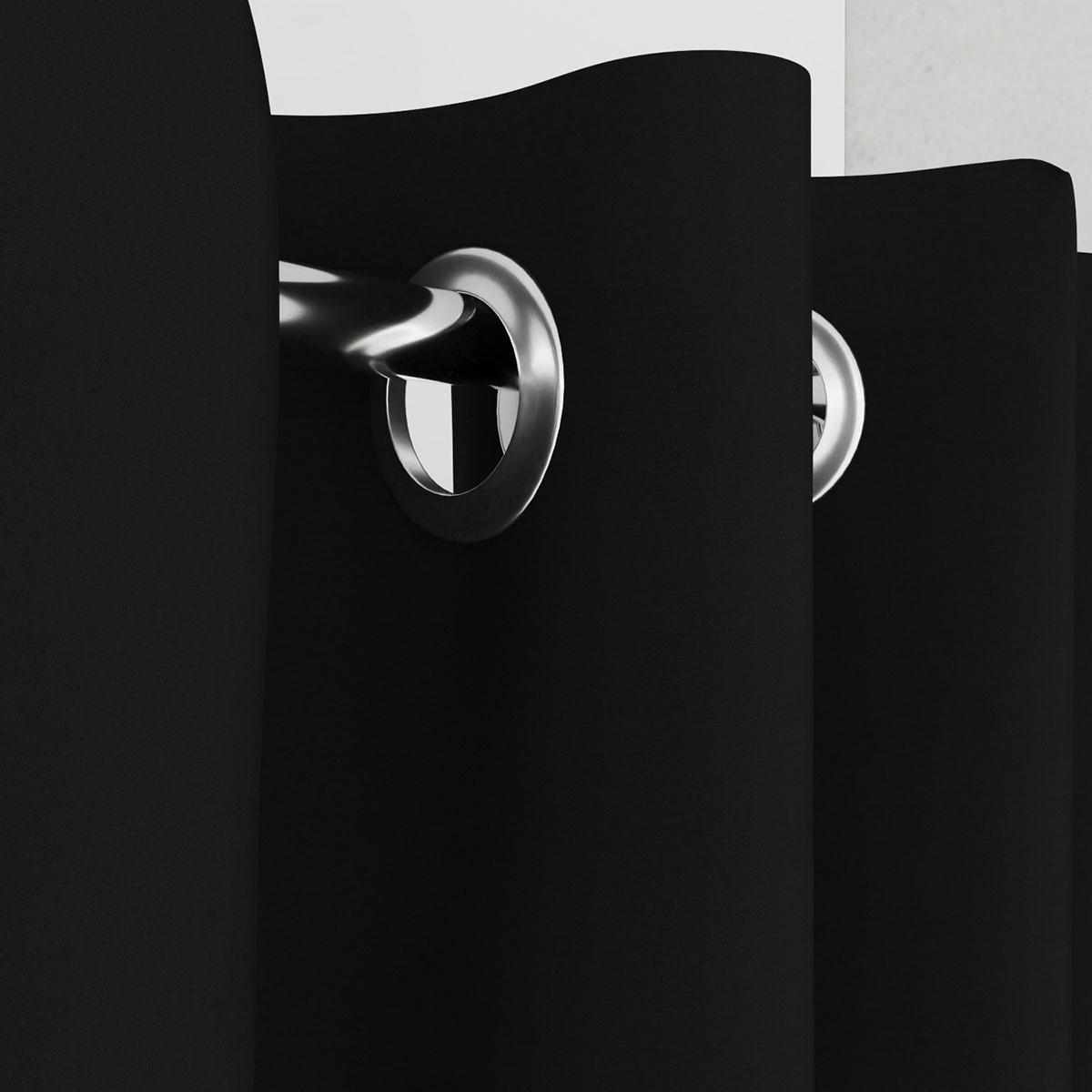 Vorhang für Umkleidekabine schwarz