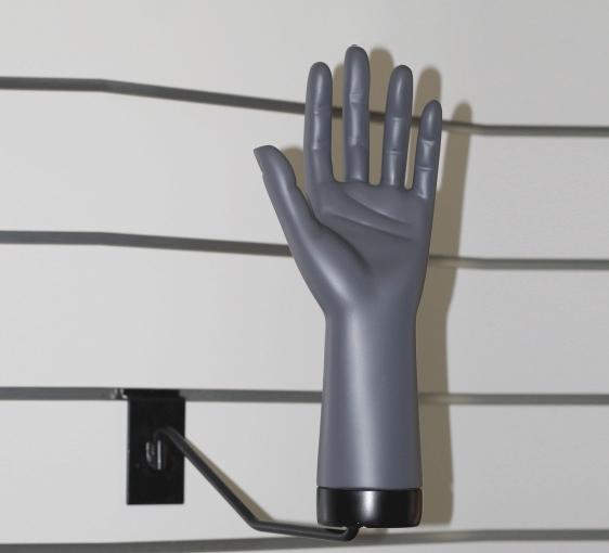 Deko-Hand links mit Adapter vertikal