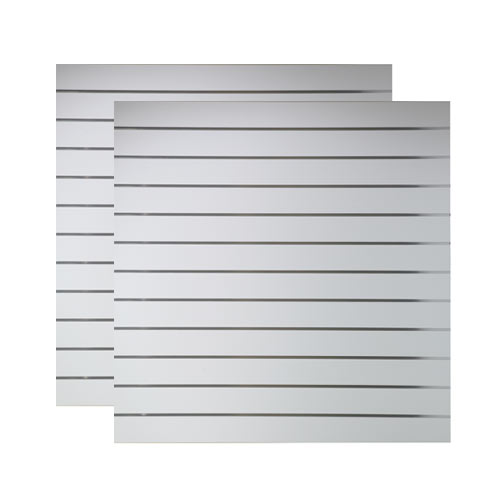 Spacewall Lamellenwand Slatwall 2er-Set lichtgrau