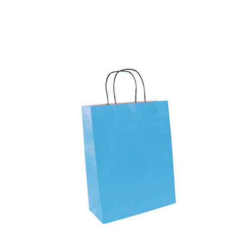 Papiertragetasche hellblau