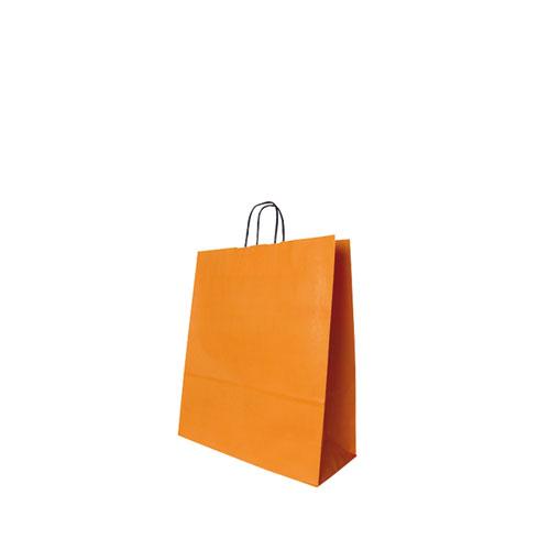 Papier Tragetüte orange