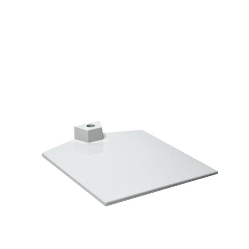 Fußplatte für Plakathalter weiß