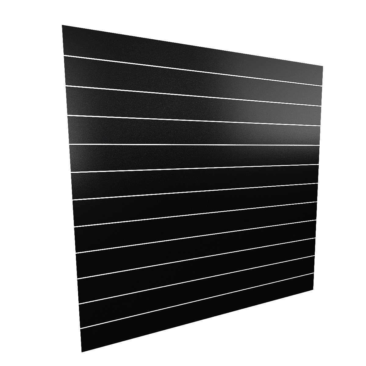 Spacewall Lamellenwand Slatwall schwarz hochglanz