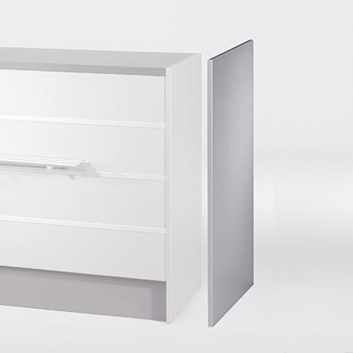 Verkaufstisch Endseite, Dekor Aluminium