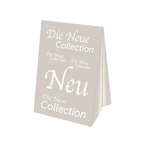 Dachaufsteller 'Neue Collection' zweiseitig A3