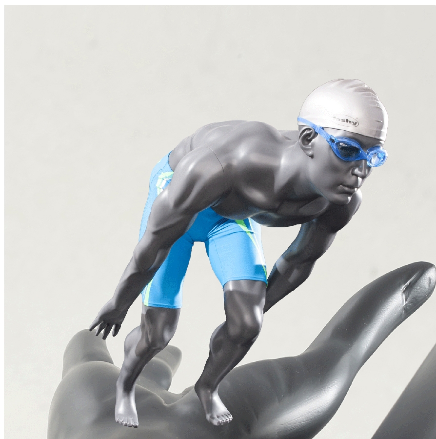 Mann Schaufensterpuppe Sportler