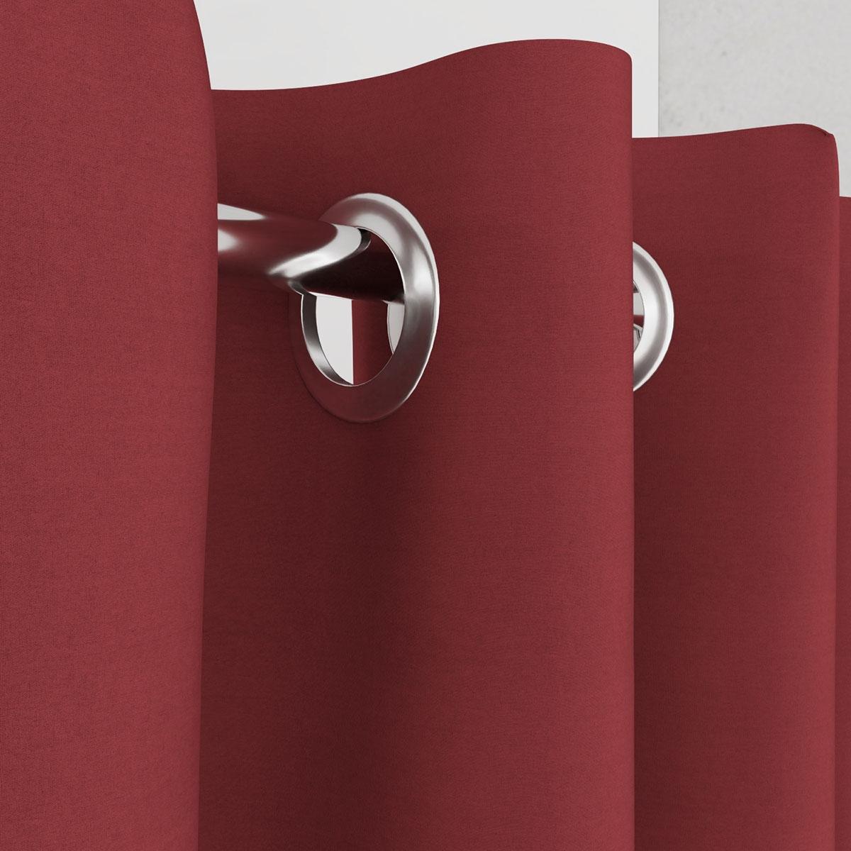 Vorhang für Umkleidekabine rot