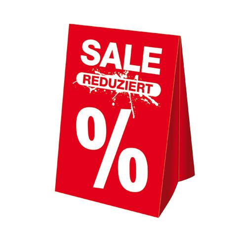Dachaufsteller 'SALE REDUZIERT %'