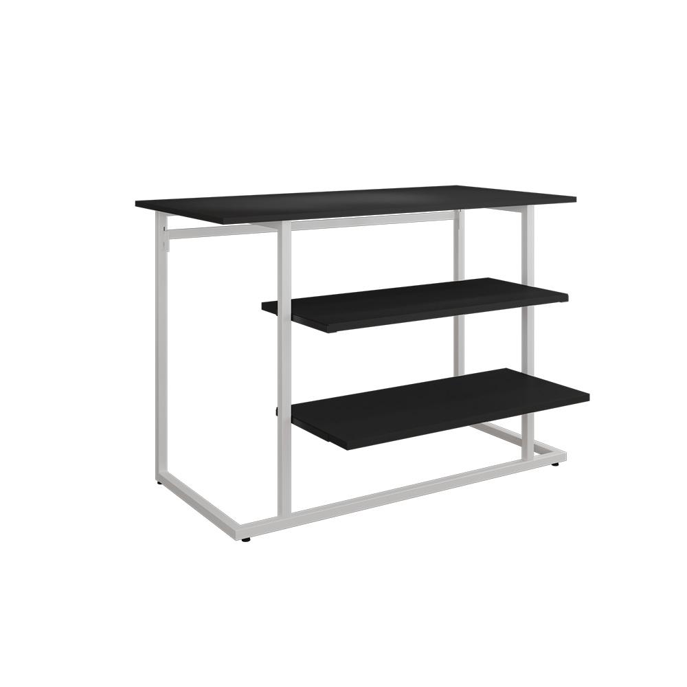 Tisch-Set weiß/schwarz