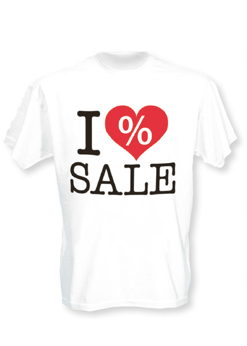 T-Shirt 'I LOVE SALE'