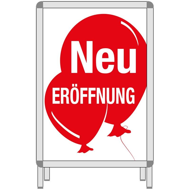 Rahmenplakat NEU-ERÖFFNUNG