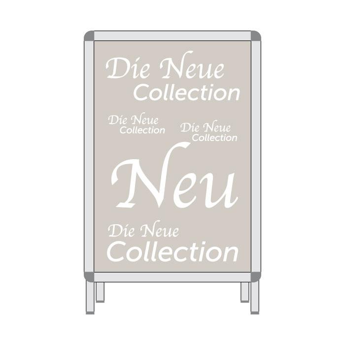 Rahmenplakat 'Neue Collection' A1