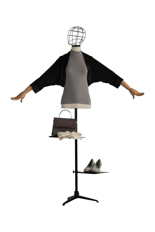 Damenbüste mit Drahtkopf Schwarz
