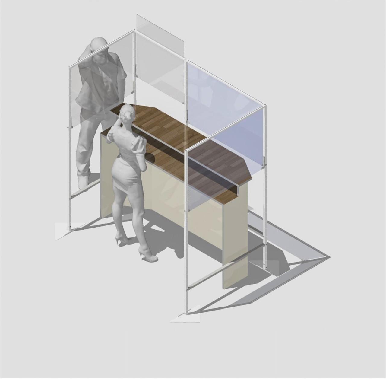 Modulare Schutzwand Grundelement