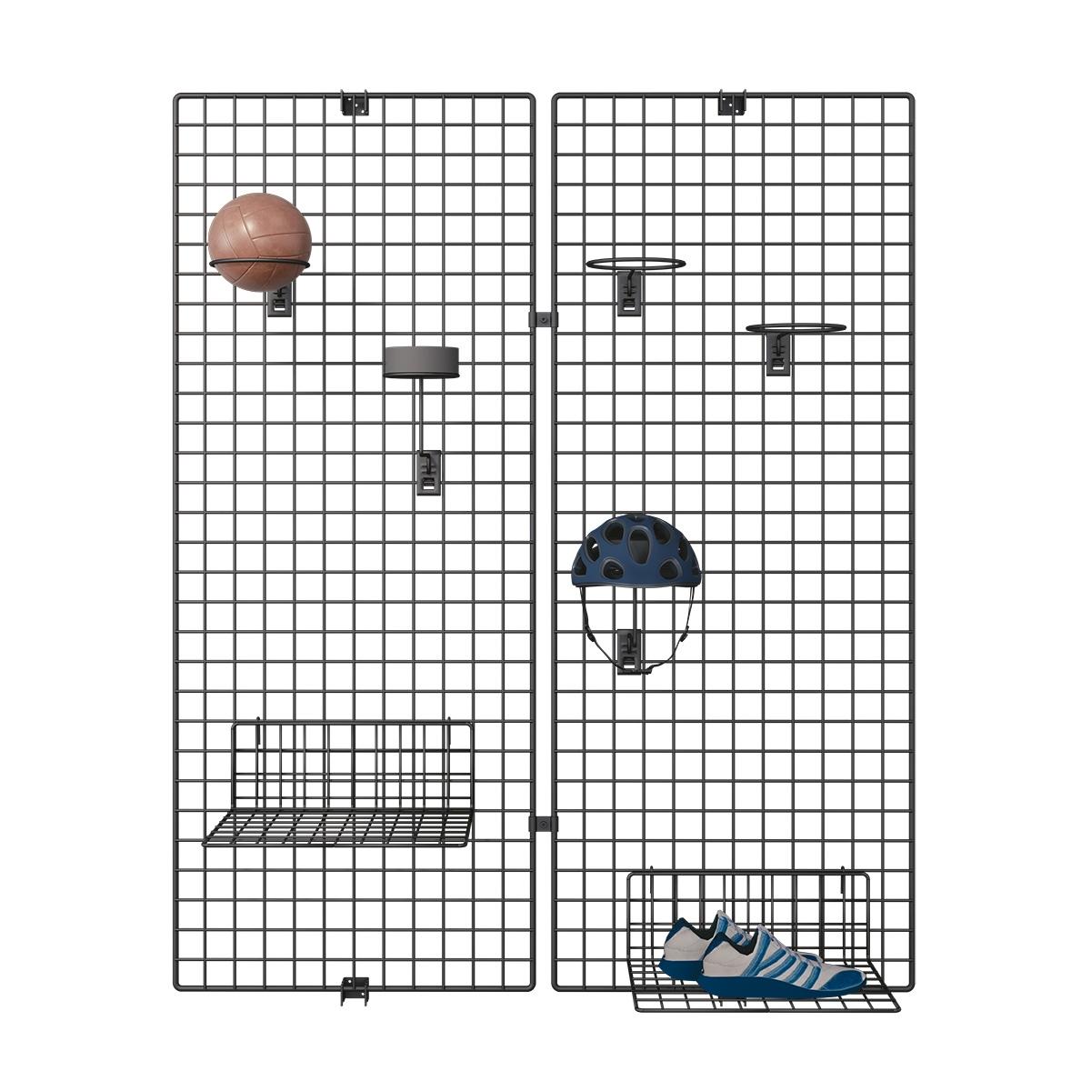 Deko Wandgitter 2er-Set: 40 x 200 cm