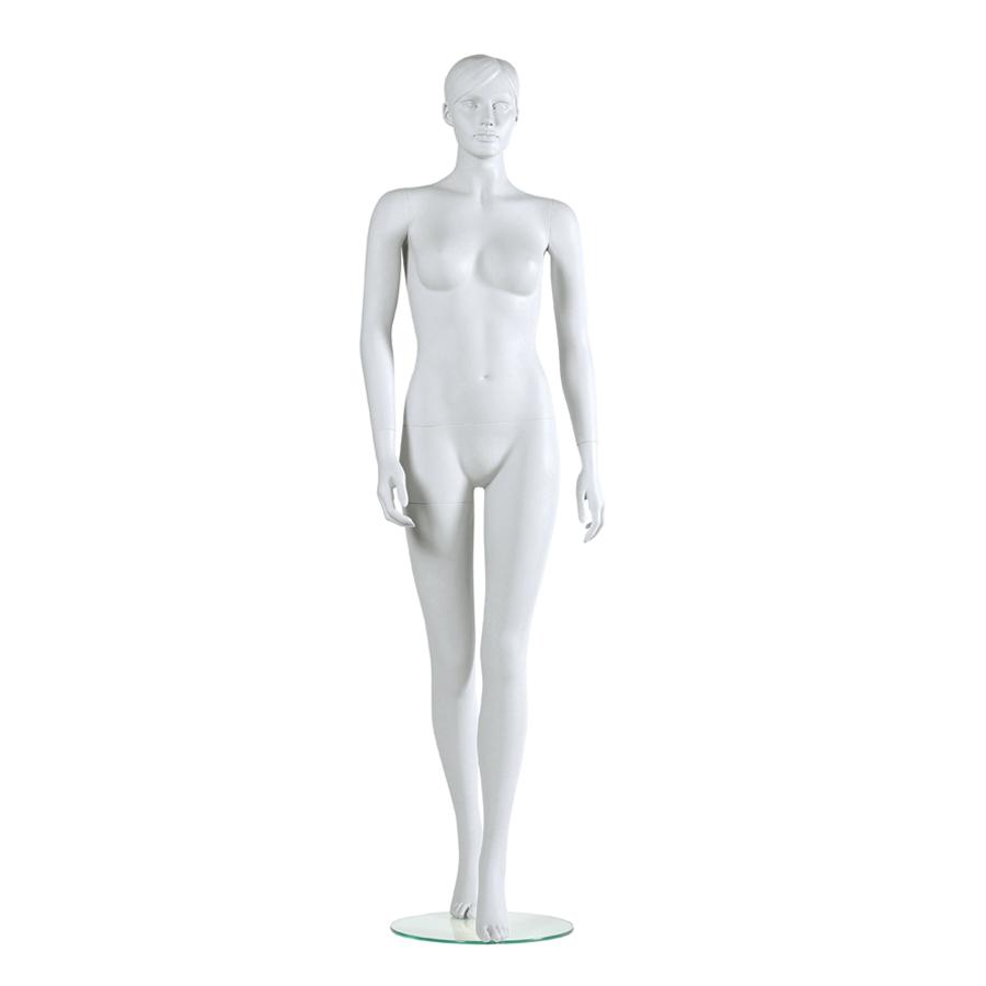 Weibliche Schaufensterpuppe weiß