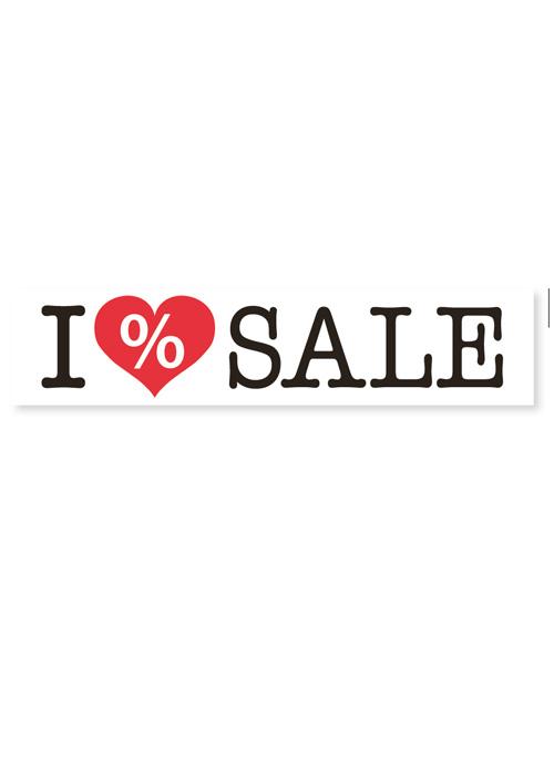 Aufkleber 'I LOVE SALE' weiß