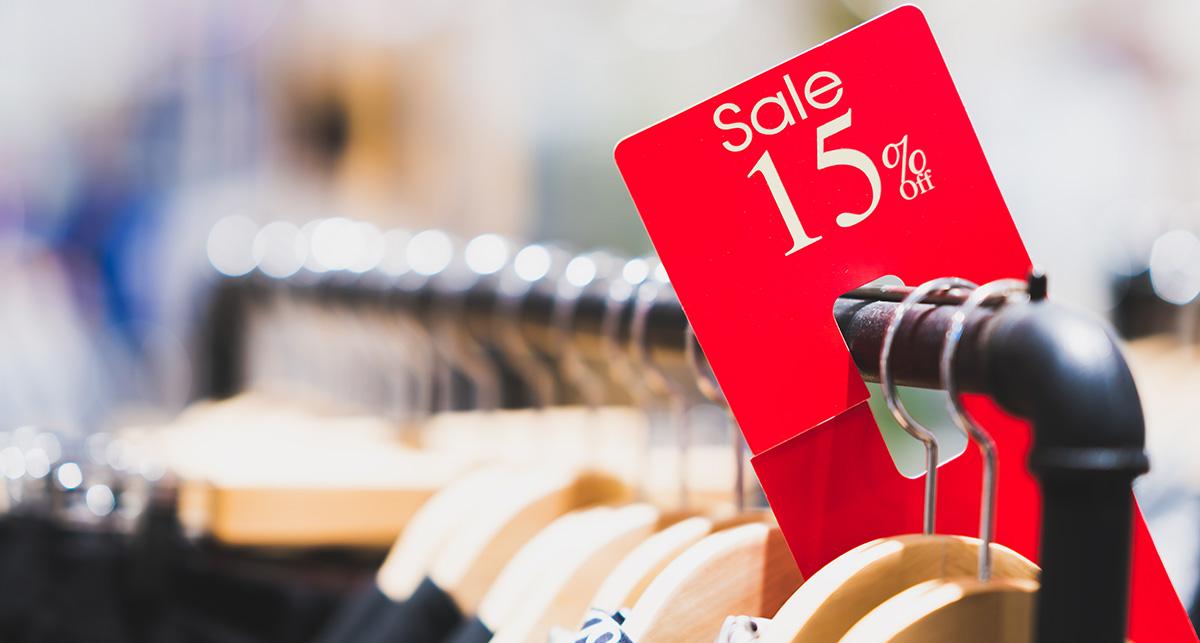 Rabatt-Aktion Einzelhandel
